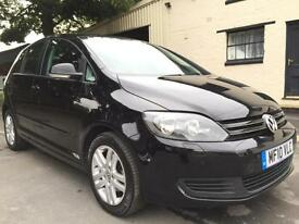 2010 Volkswagen Golf Plus 1.6TDI (105) SE 5 Door Deep Black Pearl **Park Assist*