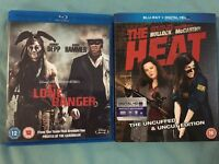 Blu-ray. The Lone Ranger and The heat.