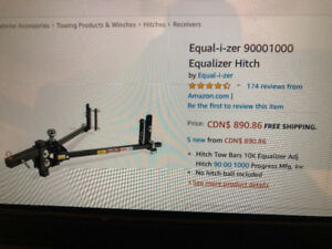 9000 to 10000 lb  Equalizer Hitch