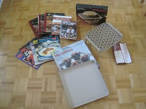 Different articles for microwave & recipes books