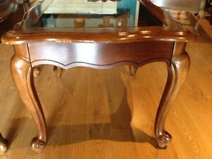 Solid Wood Coffee & End Tables - Smoked Bevelled Glass Cambridge Kitchener Area image 10