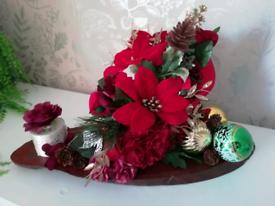 Christmas flower arrangements handmade see ad