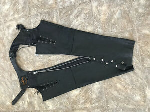 Women's Leather Riding Chaps