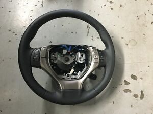 2015 Lexus RX 350 Black Leather Wrapped Steering Wheel