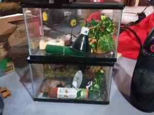Selling two 10 gallon tanks with accessories