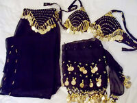 Belly Dance Costume + Hip Scarf
