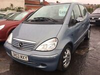 Mercedes A Class A160 + FULL SERVICE HISTORY + MOT TILL MARCH 2017 + FULL AUTO