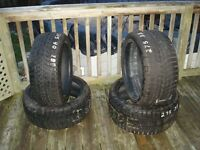 "Four 18"" Blizzak snow tires, 245/40/18 & 275/35/18"