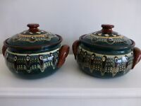 2 Authentic Bulgarian Pottery stewing pots