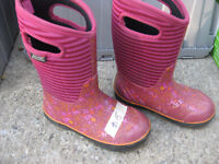 pink BOGS boots Junior Size 2