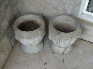 Cement Planters -2 - FREE
