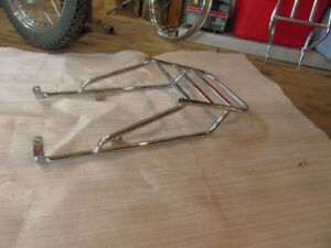 Motorcycle Large  Rear Luggage Rack Chrome Very Good Condition