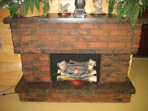 Fake Fireplace with Stereo