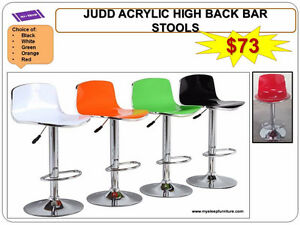 BRAND NEW- BAR STOOLS- acrylic, plastic, leather, Many colors City of Toronto Toronto (GTA) image 2
