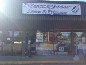 Nettoyeur a sec A LOUER - Dry cleaner store FOR RENT