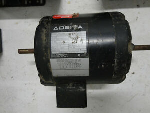 Delta Dual Shaft Electric Motor 1/3HP, 220/460V, 1725 RPM,3Phase