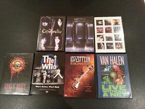 Rock and Metal DVD COLLECTION: ZEPPELIN, WHO, GNR, VAN HALEN,