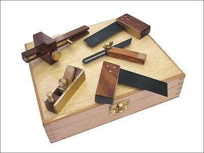 FAITHFULL MINISET5 SET OF 5 MINI WOODWORKING / MODEL MAKING TOOLS IN WOODEN CASE