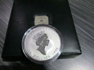 1998 $50 10 OUNCE SILVER MAPLE LEAF COIN FOR SALE