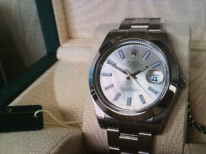 Rolex Datejust II 41 MM Silver/Stick Dial