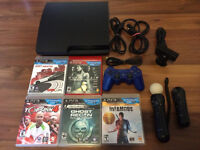 Playstation 3 Slim 160gb with Playstation Move and Games