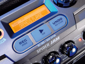 Line 6 SpiderJam amp see video(Backing band, recording, looping)