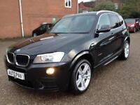 2012 62 BMW X3 2.0 XDRIVE20D M SPORT 5D AUTO 181 BHP DIESEL
