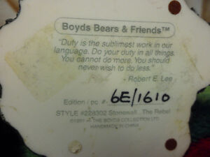 Boyds Bears and Friends Numbered Figures.  $30 Each Both for $50 Prince George British Columbia image 4