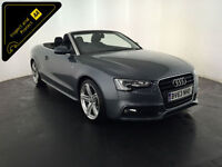 2013 63 AUDI A5 S LINE TDI DIESEL CONVERTIBLE 1 OWNER SERVICE HISTORY FINANCE