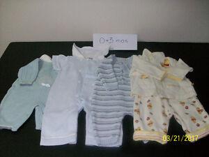 EUC 0-3 mos clothes