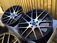 """Brand new 19"""" CCM design alloy wheels 5x112 staggered"""