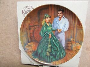 1984 GONE WITH THE WIND 7TH ISSUE SCARLETT'S GREEN DRESS 8.5""