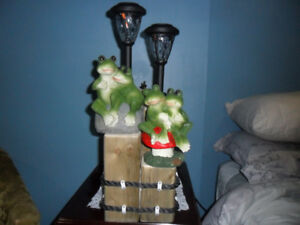 Patio Light`s For $45.00 one frog and Christmas One`s