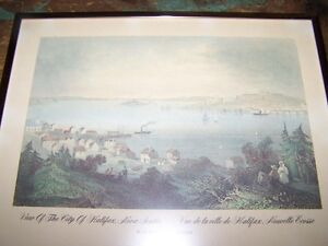 View Of The City Halifax N.S. W.H. Bartlett Framed