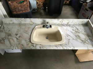 Vanity top and sink