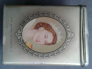 Queen Elizabeth coronation tin