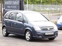 Vauxhall Meriva, 1.6, Blue, 53 000 Miles, 2007, 6 Months Warranty