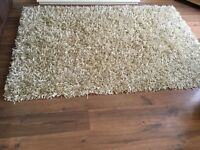 Champagne gold sparkle weave rug