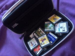 Nintendo DS Games and Case