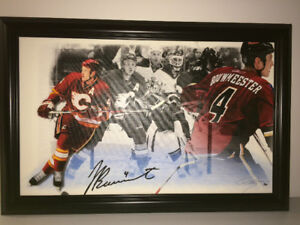 #4 Jay Bouwmeester , Calgary Flames . Limited print number  5/80