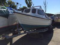 Orkney 19ft Fastliner family fishing boat excellent condition in original gel coat