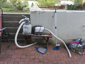 Pool filter and pump plus chemicals