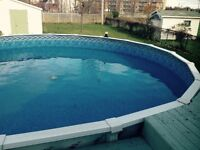 """27 X 52 """" wide 4ft deep ,65000 Liter Above Ground Pool"""