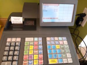 Sharp UP-820N POS Terminal with Bar Code Scanner (Cash Register)