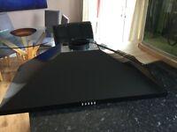 900mm black metal leisure cooker hood (missing top bit)