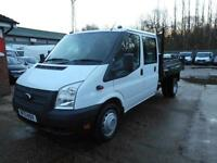 2013 FORD TRANSIT T350 DRW DOUBLE CAB TIPPER 6-SPEED TIPPER DIESEL