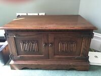 Solid oak storage box unit cabinet L77xD49xH45