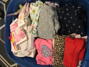Storage Bin Size Baby girl clothes 3mths-3years. Excellent cond
