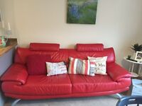 Red leather sofa £100