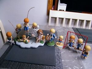 ENESCO PLAY GROUND SCHOOL COUNTRY COUSIN KIDS  FIGURINES